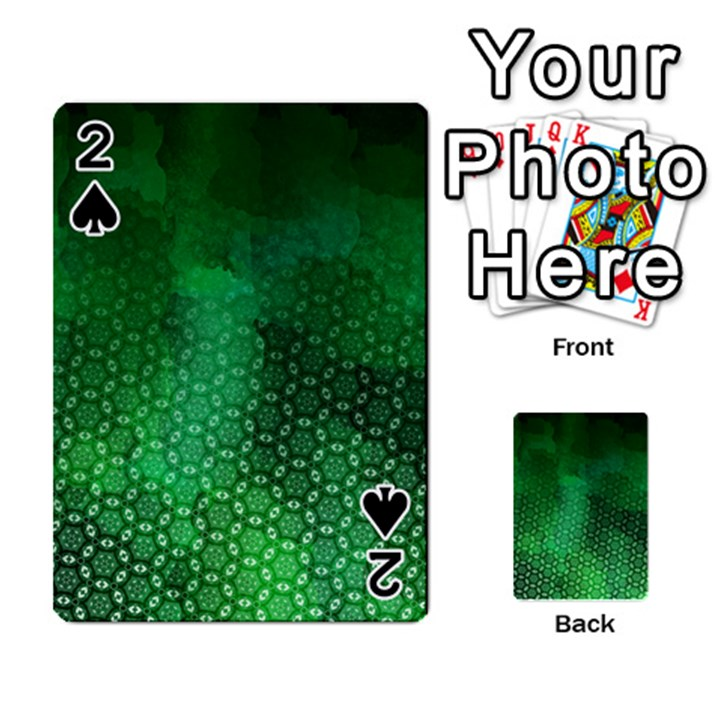 Ombre Green Abstract Forest Playing Cards 54 Designs