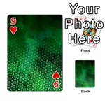 Ombre Green Abstract Forest Playing Cards 54 Designs  Front - Heart9