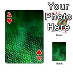 Ombre Green Abstract Forest Playing Cards 54 Designs  Front - HeartA