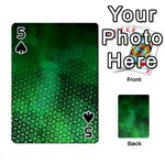 Ombre Green Abstract Forest Playing Cards 54 Designs  Front - Spade5