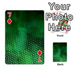 Ombre Green Abstract Forest Playing Cards 54 Designs  Front - Diamond7