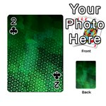 Ombre Green Abstract Forest Playing Cards 54 Designs  Front - Club2