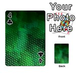 Ombre Green Abstract Forest Playing Cards 54 Designs  Front - Club4