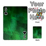 Ombre Green Abstract Forest Playing Cards 54 Designs  Front - Club5