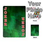 Ombre Green Abstract Forest Playing Cards 54 Designs  Front - Joker2