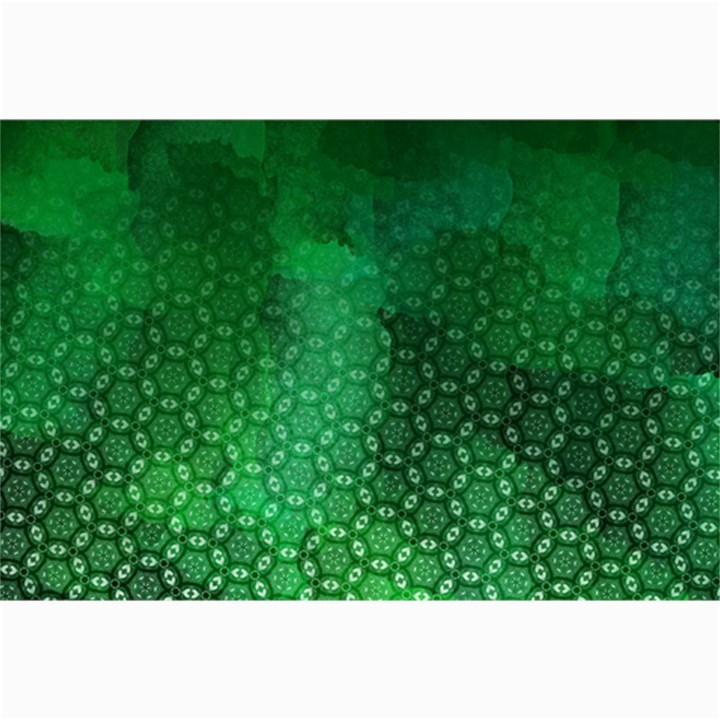 Ombre Green Abstract Forest Collage Prints
