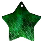 Ombre Green Abstract Forest Star Ornament (Two Sides)  Back