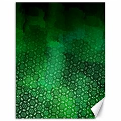 Ombre Green Abstract Forest Canvas 18  x 24