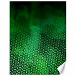 Ombre Green Abstract Forest Canvas 18  x 24   24 x18 Canvas - 1