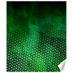 Ombre Green Abstract Forest Canvas 20  x 24   24 x20 Canvas - 1
