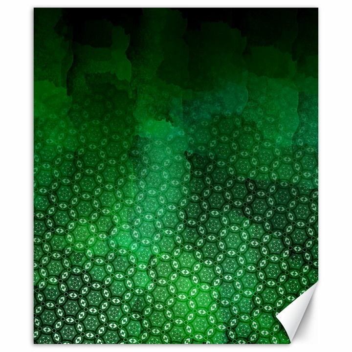 Ombre Green Abstract Forest Canvas 20  x 24