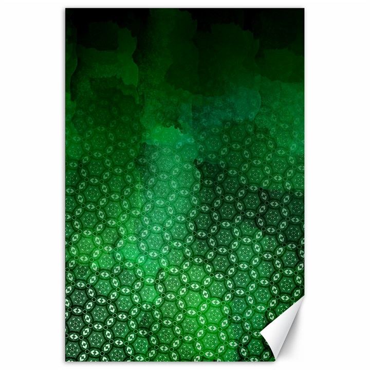 Ombre Green Abstract Forest Canvas 20  x 30