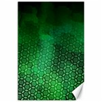 Ombre Green Abstract Forest Canvas 24  x 36  36 x24 Canvas - 1