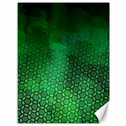 Ombre Green Abstract Forest Canvas 36  x 48