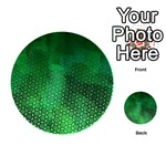 Ombre Green Abstract Forest Playing Cards 54 (Round)  Back