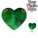 Ombre Green Abstract Forest Playing Cards 54 (Heart)  Front - Heart7
