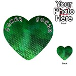 Ombre Green Abstract Forest Playing Cards 54 (Heart)  Front - Joker1