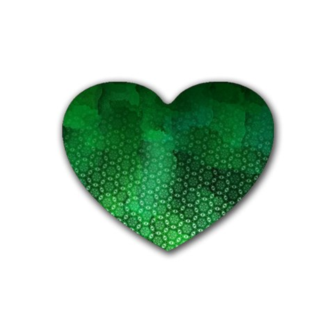 Ombre Green Abstract Forest Heart Coaster (4 pack)