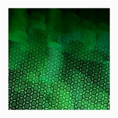 Ombre Green Abstract Forest Medium Glasses Cloth