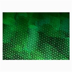 Ombre Green Abstract Forest Large Glasses Cloth