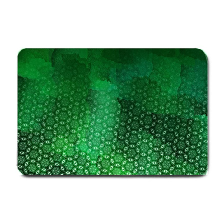 Ombre Green Abstract Forest Small Doormat