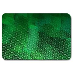 Ombre Green Abstract Forest Large Doormat