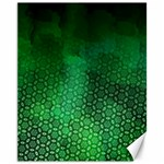 Ombre Green Abstract Forest Canvas 11  x 14   14 x11 Canvas - 1