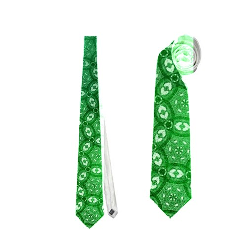 Ombre Green Abstract Forest Neckties (One Side)