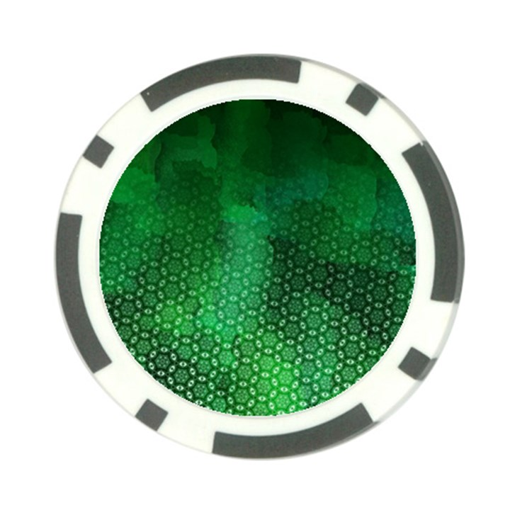 Ombre Green Abstract Forest Poker Chip Card Guards