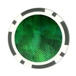 Ombre Green Abstract Forest Poker Chip Card Guards Back
