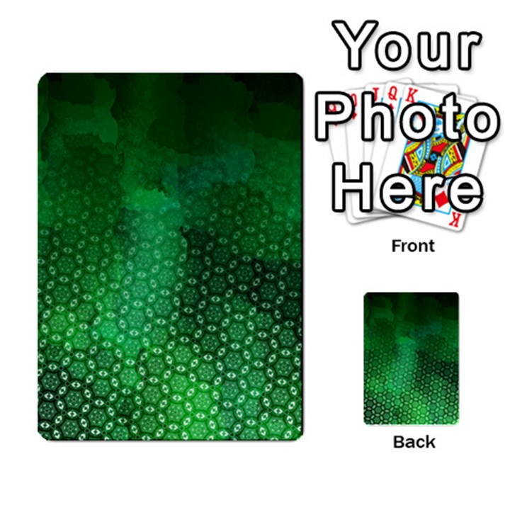 Ombre Green Abstract Forest Multi-purpose Cards (Rectangle)
