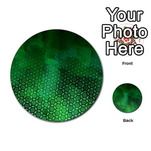 Ombre Green Abstract Forest Multi-purpose Cards (Round)