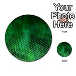 Ombre Green Abstract Forest Multi-purpose Cards (Round)  Back 7