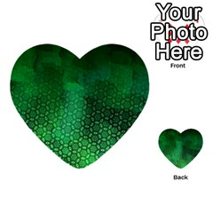 Ombre Green Abstract Forest Multi Purpose Cards (heart)