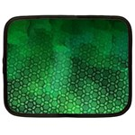Ombre Green Abstract Forest Netbook Case (Large) Front