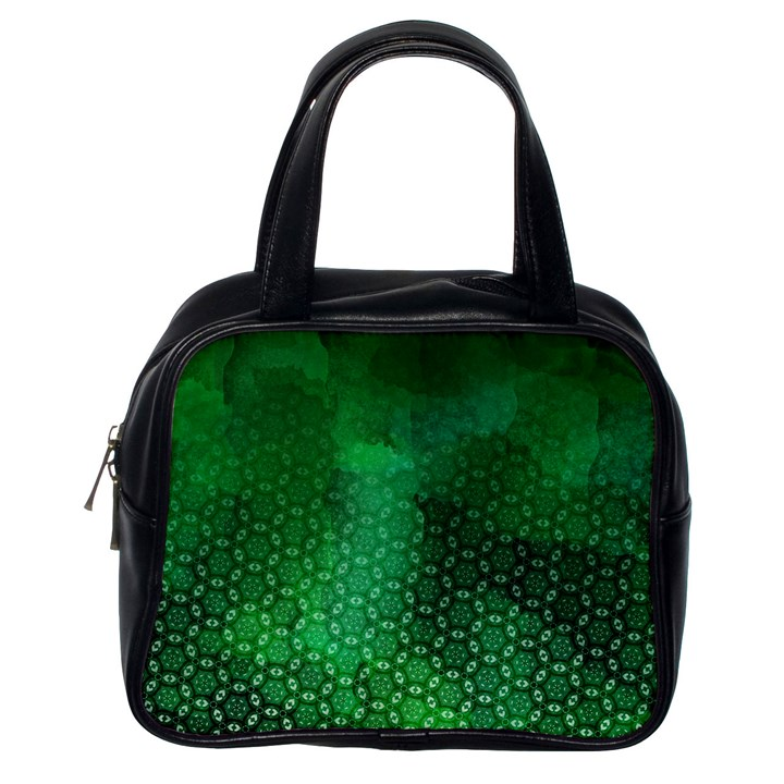 Ombre Green Abstract Forest Classic Handbags (One Side)