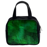Ombre Green Abstract Forest Classic Handbags (2 Sides) Front