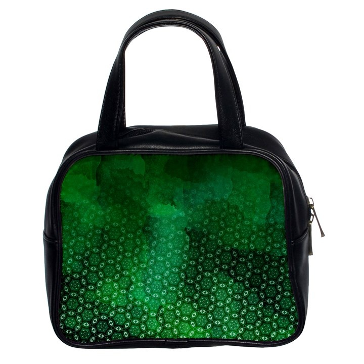 Ombre Green Abstract Forest Classic Handbags (2 Sides)