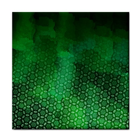 Ombre Green Abstract Forest Face Towel