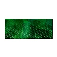 Ombre Green Abstract Forest Hand Towel