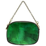 Ombre Green Abstract Forest Chain Purses (One Side)  Front