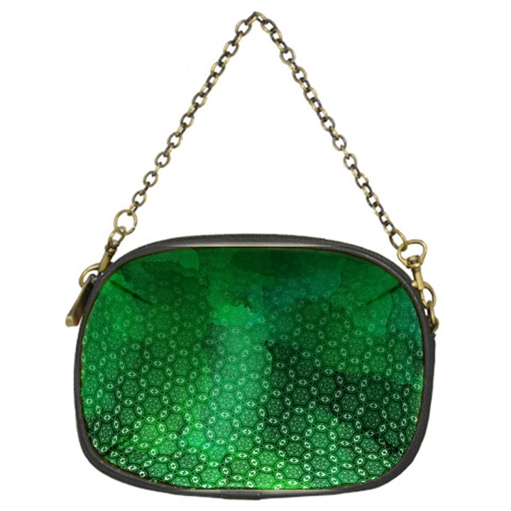 Ombre Green Abstract Forest Chain Purses (One Side)