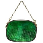 Ombre Green Abstract Forest Chain Purses (Two Sides)  Back