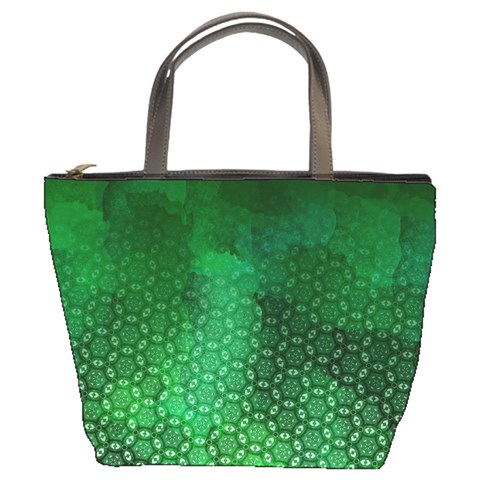 Ombre Green Abstract Forest Bucket Bags