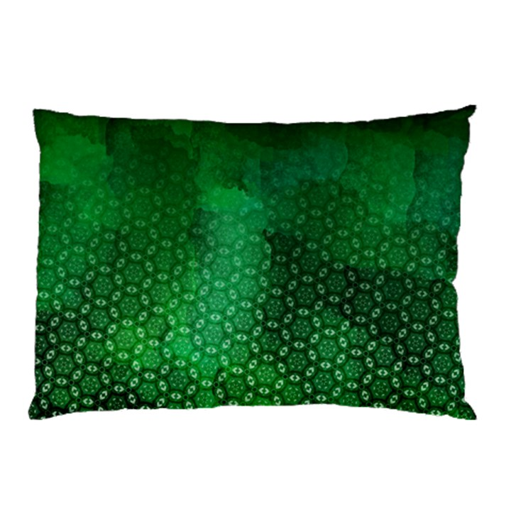 Ombre Green Abstract Forest Pillow Case
