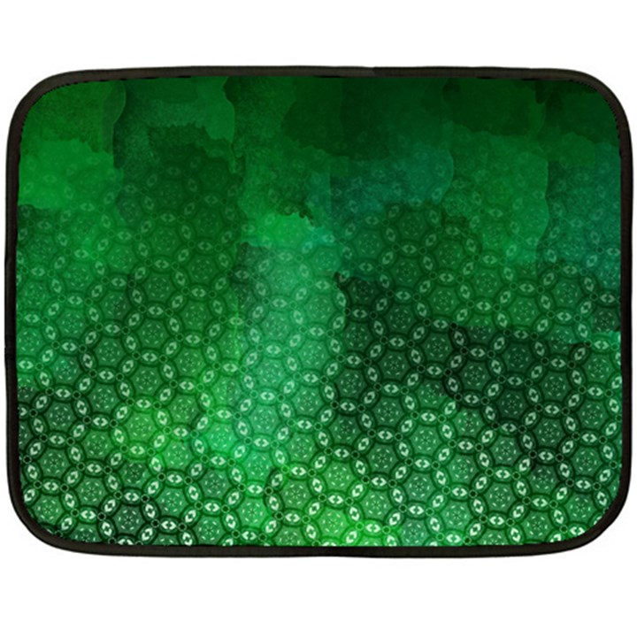Ombre Green Abstract Forest Fleece Blanket (Mini)