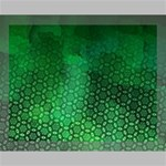 Ombre Green Abstract Forest Canvas 14  x 11  14  x 11  x 0.875  Stretched Canvas