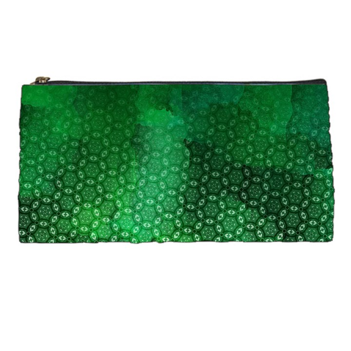 Ombre Green Abstract Forest Pencil Cases