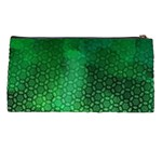 Ombre Green Abstract Forest Pencil Cases Back