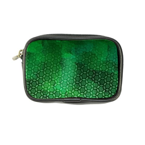 Ombre Green Abstract Forest Coin Purse